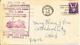 USA Cover Decication Of U.S. Post Office Cathedral City Calif. 3-12-1945 Pasadena 24-4-1946 - Brieven En Documenten