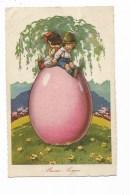 BUON PASQUA ILLUSTRATA CASTELLI 1930  VIAGGIATA FP - Easter