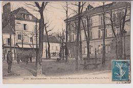 MONTMARTRE : PLACE ET HOTEL DU TERTRE - MAIRIE CONSTRUITE EN 1789 - ECRITE 1911 -* 2 SCANS *- - Arrondissement: 18