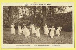 * Halle - Hal (Vlaams Brabant) * (Nels, Uitg R. Ghesquière) Zingende Meisjes, Zeven Bruine Beuken Spoken, Enfant, Filles - Halle