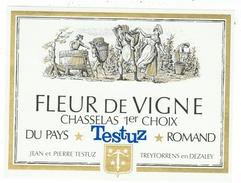 Rare // Fleur De Vigne, Chasselas 1er Choix, J P Testuz Treytorrens-Dézaley, Vaud // Suisse - Etiquettes