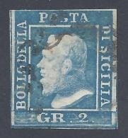 SICILIA 1859 2Gr AZZURRO Nº 7 - Sicilia