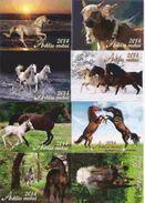 8 Packet Calendars  HORSES  Lithuania  2014 - Calendarios