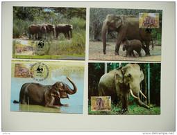 WWF Sri Lanka Ceylon Elephant Elefant Oliphant 1986 CM MC MK Maxi Card Carte Maximum Maxicards Maximumkarten - Maximum Cards