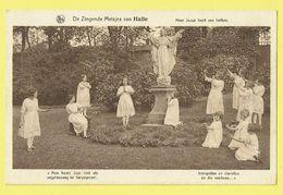 * Halle - Hal (Vlaams Brabant) * (Uitg. R. Ghesquière) Zingende Meisjes, Enfants, Jesus, Filles, Rare, Old, CPA, Engelen - Halle