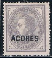 Açores, 1880/1, # 34 Dent. 13 1/2, MHNG - Azores