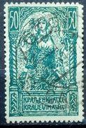 GIRL WITH FALCONS-50 VIN-POSTMARK-KOTOR-MONTENEGO-ZIG ZAG PERF-SHS-YUGOSLAVIA-1919 - Used Stamps