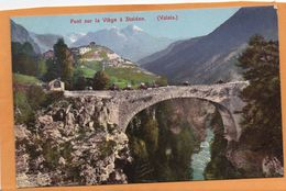 Pont Sur La Viege A Stalden Valais 1910 Postcard - VS Valais