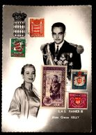 T1267 MONACO - SAS RAINER II AND MISS GRACE KELLY - POSTCARD WITH STAMPS - Other