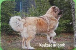 Pocket Calendar  DOG KAUKAZO AVIGANIS  Lithuania 2007 Kenel - Calendari