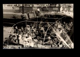 T1279 OSLO - SIGHTSEEING WITH BATSERVICE 1958 - Norvegia