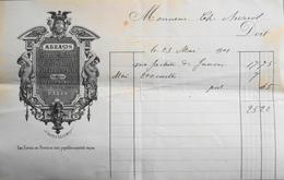 Facture De ABRAMS Graveur Sur Métaux à Paris à Mr Charles AURIOL - Datée 23.05.1901 - BE - 1900 – 1949