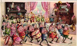 1 Trade Card Chromo  Fabrique Piano Pub. Estey  Pianos & Organs   Illustr.J Ottmafin    Anno 1897   Lithography - Other