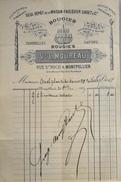Facture De Vve L. MOUREAU - Bougies Montpellier à Mr AURIOL - Datée 21.09.1905 Et Signée - BE - 1900 – 1949