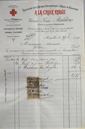 Facture De A LA CROIX ROUGE Montpellier à Mr AURIOL - Timbrée Datée 25.06.1901 Et Signée - BE - France