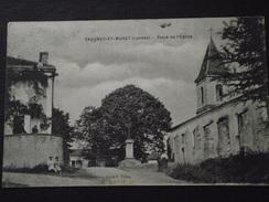 SAUGNAC-et-MURET (Saugnacq-et-Muret, Landes) - PLACE De L'EGLISE - Animée - Voyagée Le 26 Août 1924 - Other Municipalities