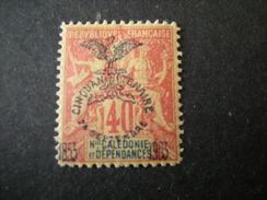 N-LLE CALEDONIE - 1903, Fournier Rare, Cent. 40 ,  N.77 Surchar., MLH* TTB - Neukaledonien