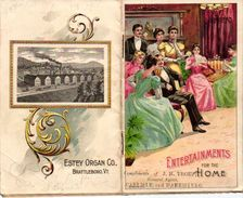 1 Booklet  Chromo  Fabrique Piano Pub. Estey  Pianos & Organs   Entertainments For The Home    Anno 1897   Lithography - Other