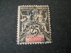 N-LLE CALEDONIE - 1903, Fournier Rare, Cent. 25 ,  N.75 Surchar., MLH* TTB - Neukaledonien