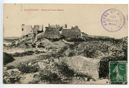 Iles Chausey Ruines Du Vieux Château - Other Municipalities