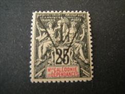 N-LLE CALEDONIE - 1894/900, Fournier Tres Rare, TAXE, Cent. 25 MLH*., N. 5, TTB - Nuovi