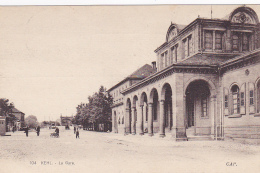 Kehl - La Gare (extérieure, Petite Animation) Circulé 1922, Sous Enveloppe - Gares - Sans Trains