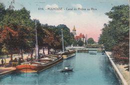 MULHOUSE - Canal Du Rhône Au Rhin - Très Belle Carte Colorisée. - Mulhouse