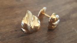 Boucles D'oreilles Coeur En Or 18 K, Poids 2,41 Grs - Boucles D'oreilles