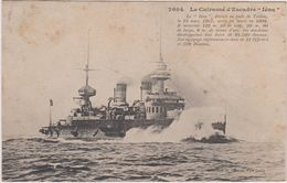 Bateaux De Guerre Le Cuirassier D'escadre Iena  Detuit En Rade De Toulon - Warships