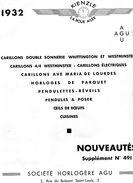 Horlogerie: AGU- Paris: Catalogue 1932  - Très Illustré-15 Pages - Avec Tarif., Bon état. - Autres