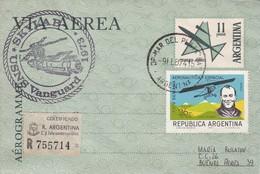 AEROGRAMA/AEROGRAME - 1973  - ARGENTINA/L'ARGENTINE - BLEUP - Bases Antarctiques