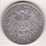 PRUSSIA. 2 Mark 1904 A, Wilhelm II , En Argent, KM# 522 - [ 2] 1871-1918: Deutsches Kaiserreich
