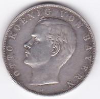 BAVARIA. 3 Mark 1910 D , Otto , En Argent, KM# 996 - [ 2] 1871-1918: Deutsches Kaiserreich