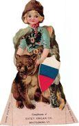 1 Trade Card Die Cut  Russian  Flag Pub.  Estey Organs Brattleboro   Lithography - Other