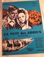 """Affichette Publicitaire Cinéma  """"La Nuit Des Adieux""""  Gilles SEGAL , Nicolas TCHERKASSOV 1965 - Manifesti & Poster"""