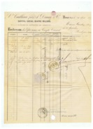 Vve CAILLIAU FILS  A . DINCQ & Cie  à DOUAI (NORD)  1877 - Bank & Versicherung