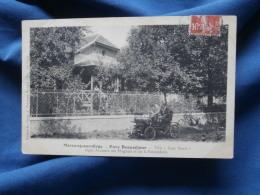 """Morsang Sur Orge  Parc Beauséjour  Villa """"Sans Souci"""" - Animée : Automobile - Ed. Thevenet 172 - Circulée 190? - R165 - Morsang Sur Orge"""