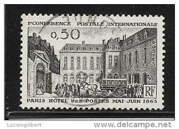 N° 1387   FRANCE  -  OBLITERE -  CONFERENCE POSTALE   -  1963 - France