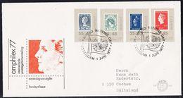 """Niederlande, Brief """"amphilex 77 """" Mi-Nr. 1101/04, Siehe Scan,14.9-45 - Poststempels/ Marcofilie"""