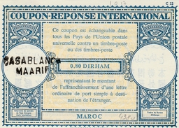 Coupon Réponse Maroc 0,80 Dirham Type LO 17- Griffe Casablanca Maarif - CRI IAS IRC - Marocco (1956-...)