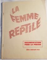 "Dossier Scénario Cinéma  ""La Femme Reptile""  20th Century-Fox Anthony Nelson Keys 1955 - Pubblicitari"