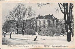 TARTU ULIKOOLI RAAMATUKOGU ESTONIE ESTONIA DORPAT UNIVERSITATS BIBLIOTHEK ECRITE AU DOS CIRCA 1925 - Estland