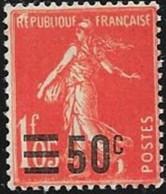 N° 225  FRANCE -  SEMEUSE 50 / 1,05  Surchargés - 1926  NEUF - France