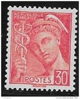 N° 412   FRANCE  -  NEUF   -  MERCURE   30 C Rouge - - Nuovi