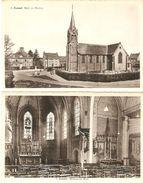 Zammel : Kerk En Pastorij --- 2 Kaarten - Geel