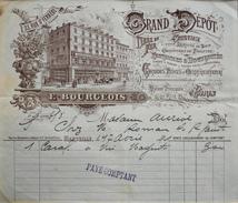 Facture Du GRAND DEPOT E. BOURGEOIS à Marseille à Mme AURIOL - Datée 17.04.1901 - BE - 1900 – 1949
