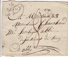 MAINE ET LOIRE - 47 Angers - Devant Lettre  - PD 32x11.5 N -Tm8 - Sans Date - Marcophilie (Lettres)