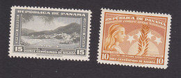Panama, Scott #C97, C101, Mint Hinged, Scene Of Panama, Four Freedoms, Issued 1948 - Panama