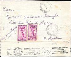 PARTECIPANO IL MATRIMONIO PIETRO PAOLO E CARMEN CORIGLIANO CALABRO 1958 CIRCULEE A BUENOS AIRES ARGETNINA - 6. 1946-.. Republic