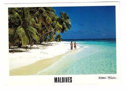 Les Maldives Atoll + Timbre Carte Card Stamp - Maldives